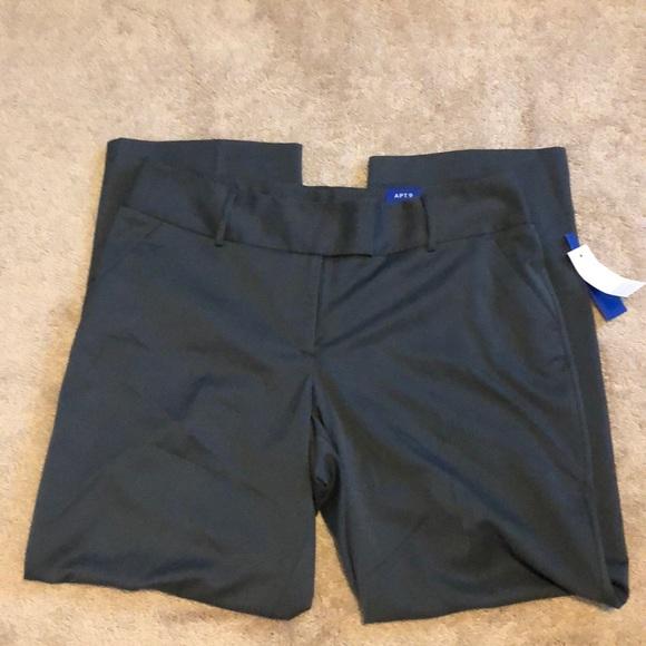 4504c0617feca Plus Size APT. 9 Modern Fit Wide-Leg Dress Pants